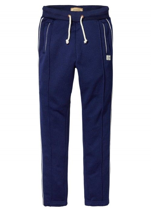 Scotch Shrunk Track Pants With Contrast