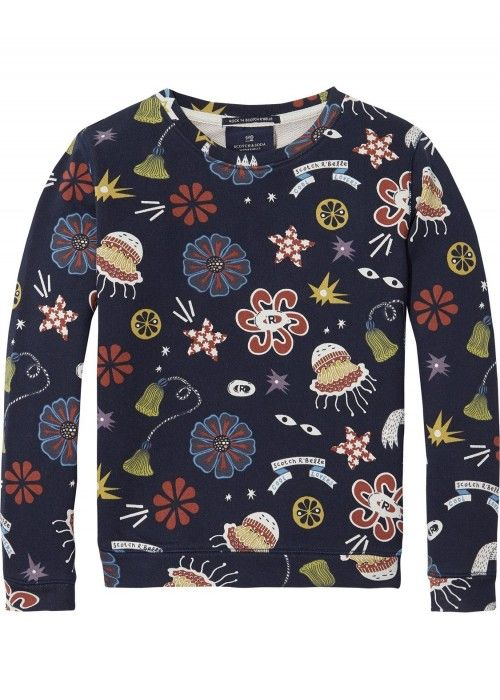 Scotch R'belle All-Over Printed Crewneck Swea
