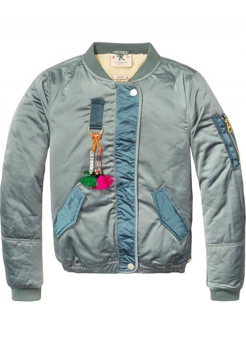 Scotch R'belle Teddy Lined Satin Bomber Jack