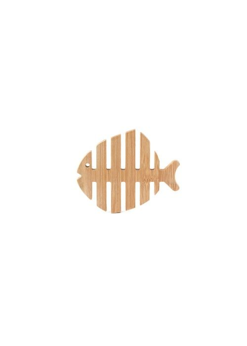 Eb & Vloed Bamboo Fish Coaster S/4