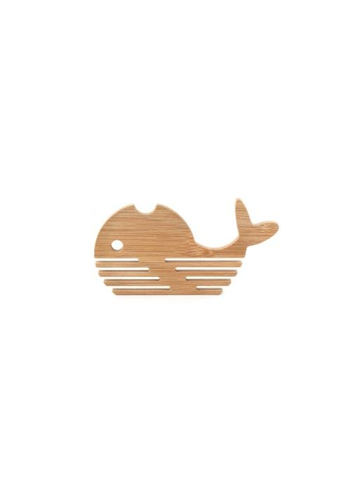 Eb & Vloed Bamboo Whale Coasters S/4