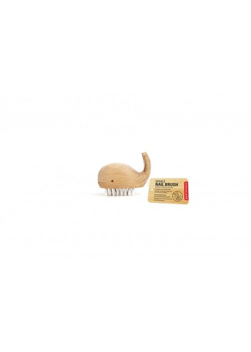 Eb & Vloed Wooden Whale Nail Brush