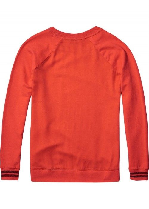 Maison Scotch Clean Sweat With Woven Back