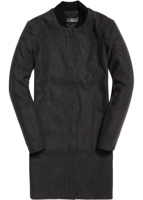 Superdry Longline Wool Bomber