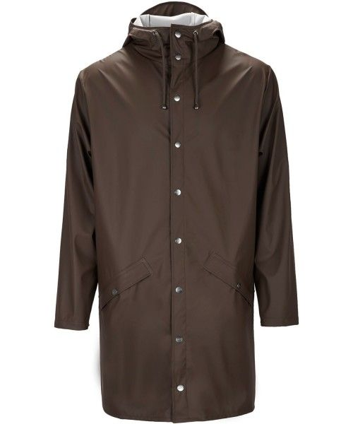 Rains Long Jacket Brown