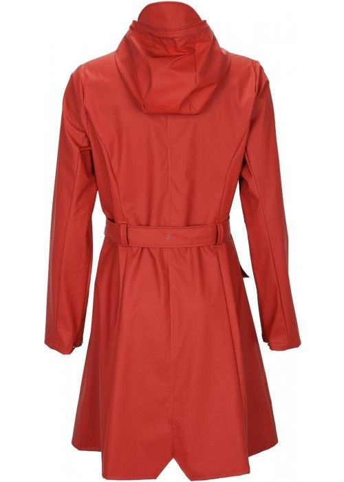 Rains Curve Jacket Scarlet