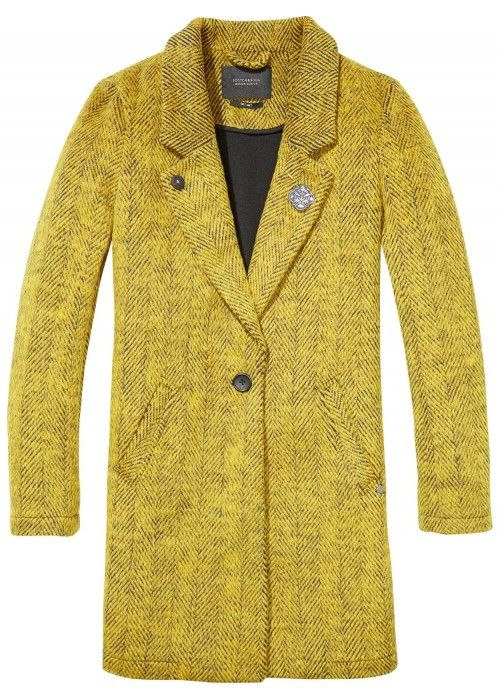 Maison Scotch Bonded Wool Coat