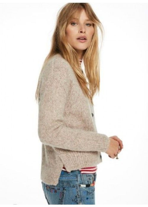 Maison Scotch Loose Fitted Cardigan Big Slit