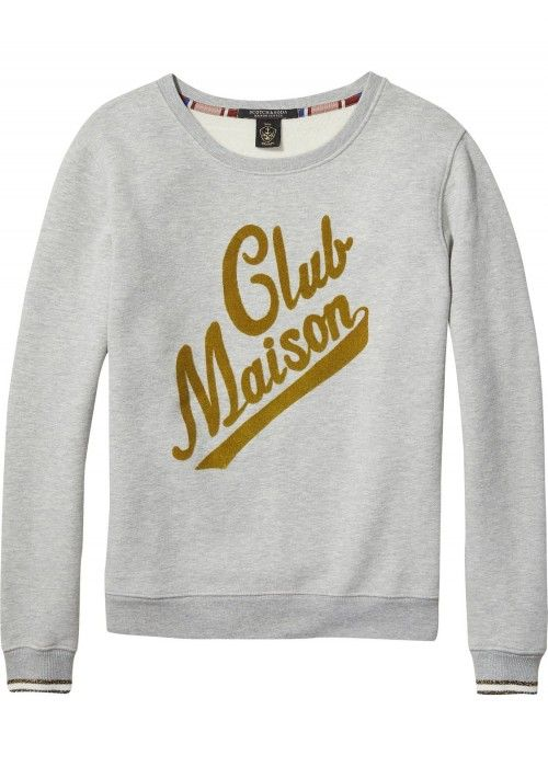 Maison Scotch Crewneck Sweat With Logo Artw