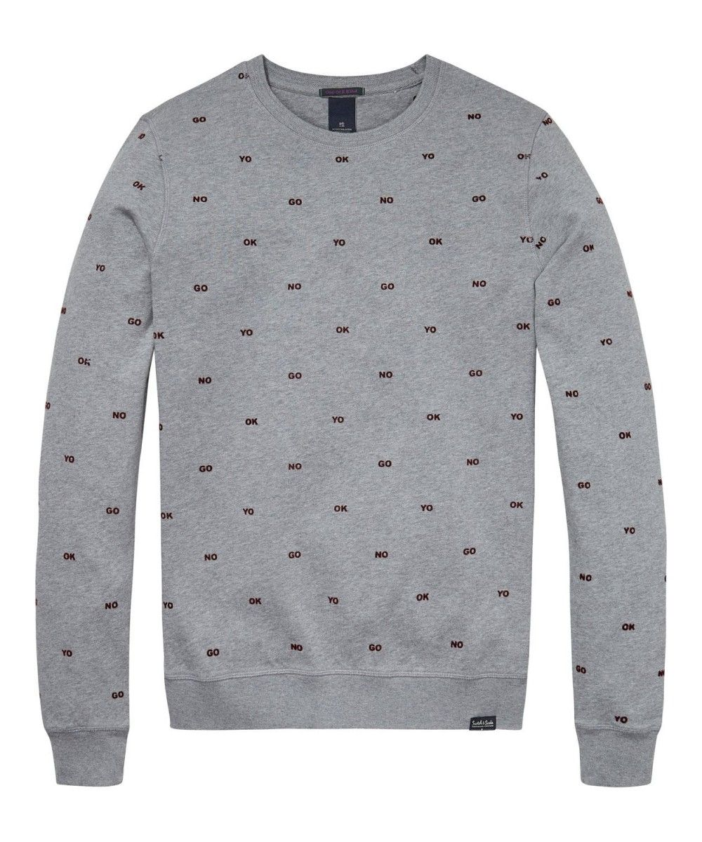 Scotch & Soda Crewneck Sweat In Brushed Felp