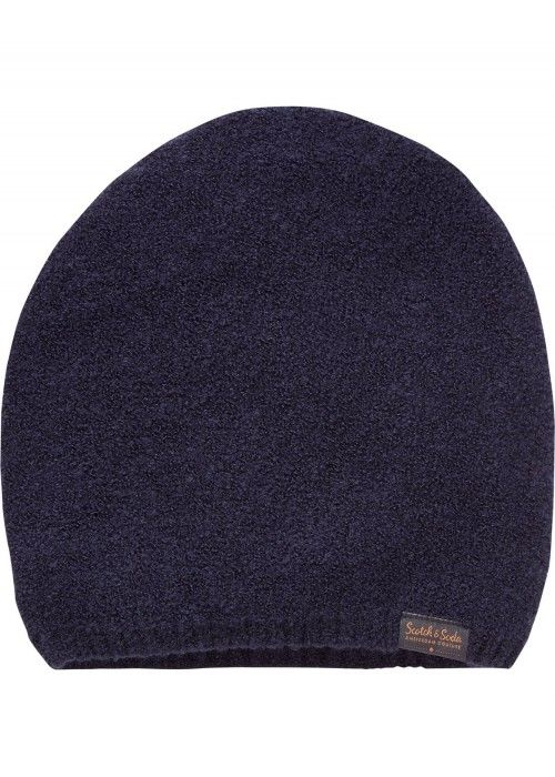 Scotch & Soda Beanie In Wool-Blend Boucle Qu
