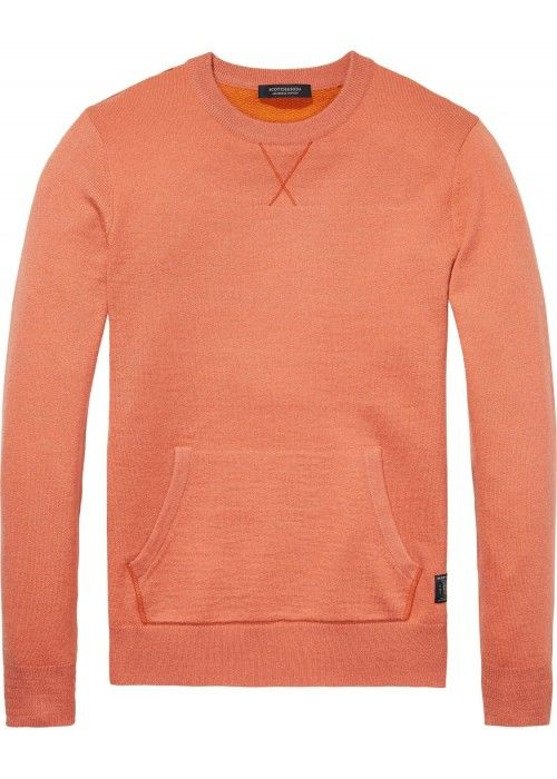 Scotch & Soda Crewneck Pullover With Sweat