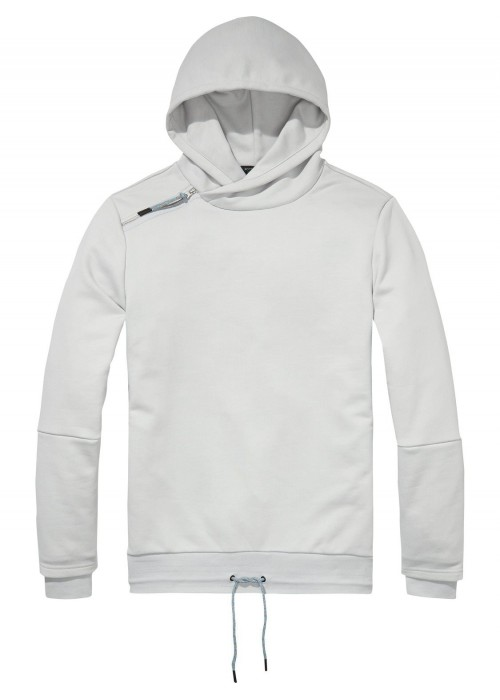 Scotch & Soda Hooded Sweat With Side Panel