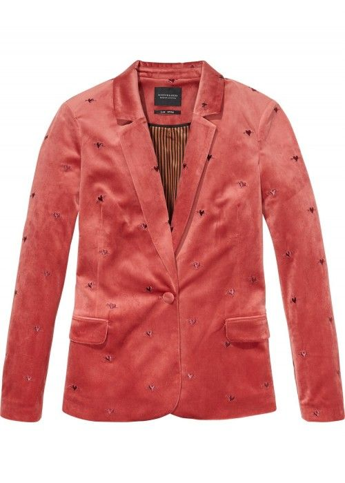 Maison Scotch Velvet Tailored Blazer