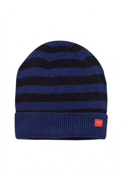 Scotch & Soda Breton Stripe Beanie In Cotton