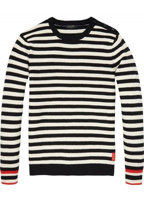 Scotch & Soda Breton Stripe Pull In Cotton Q