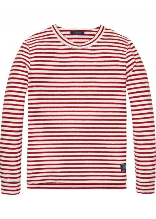 Scotch & Soda Classic Crewneck Sweat In Roug