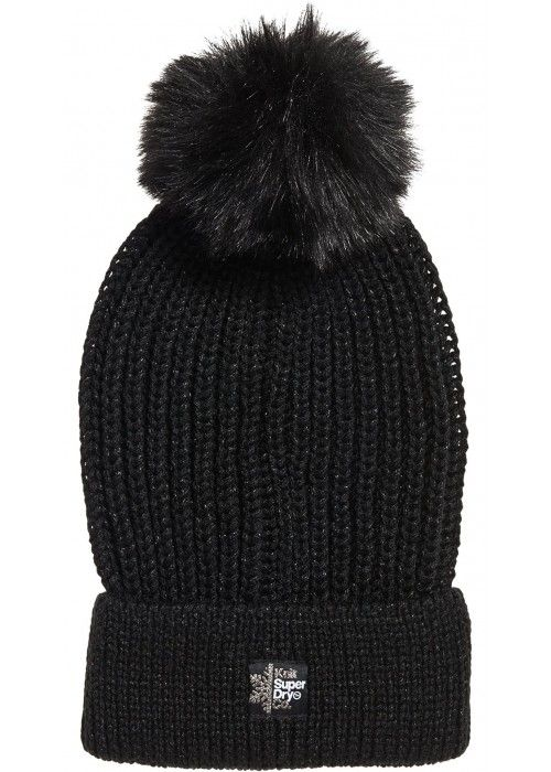 Superdry Aries Sparkle Fur Bobble Hat