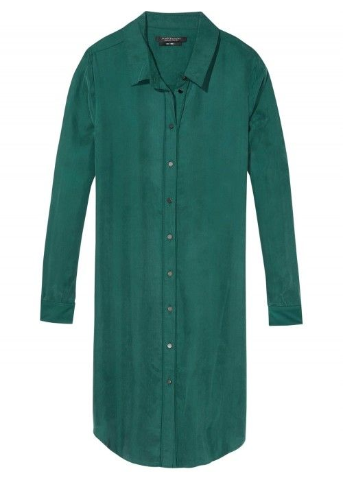 Maison Scotch Cupro Shirt Dress