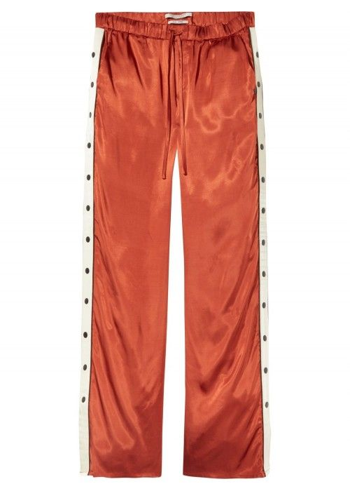 Maison Scotch Viscose pant with contrast sid