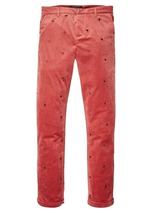 Maison Scotch Velvet Chino Allover Embroider