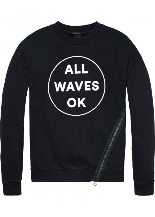 Scotch & Soda Crewneck Sweat With Dropped Sh