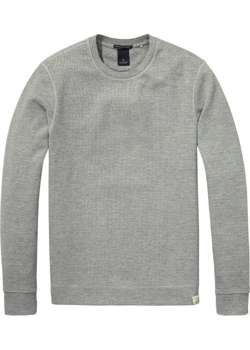 Scotch & Soda Classic Crewneck Sweat In Stru