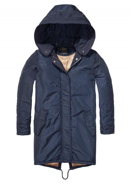 Maison Scotch Parka Jacket With Topstitching