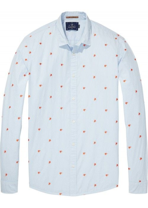 Scotch & Soda Longsleeve Shirt All-Over Embr