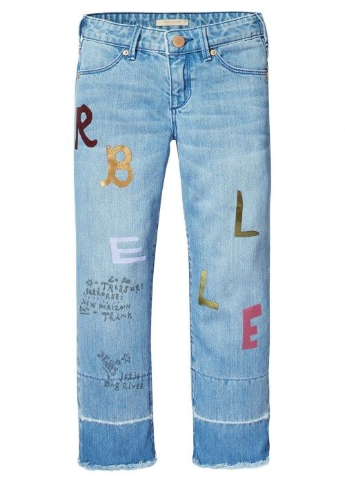 Scotch R'belle Cropped Denim With Patches