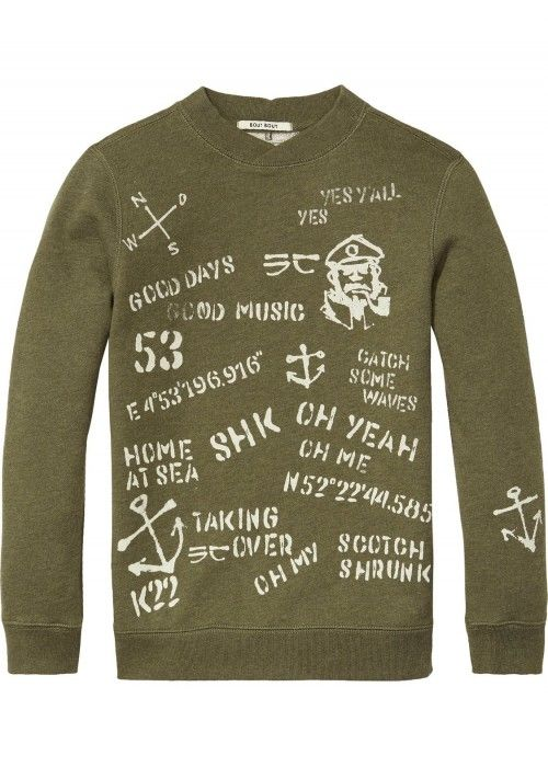 Scotch Shrunk Crewneck Sweat With Hand-Paint