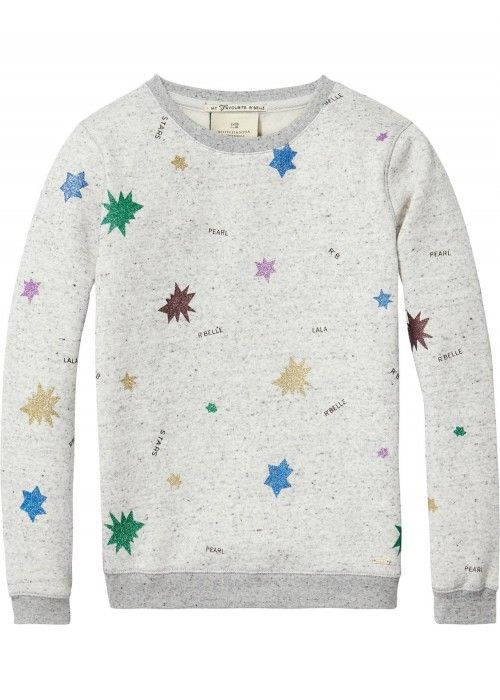 Scotch R'belle Sweat With All-Over Glitter St