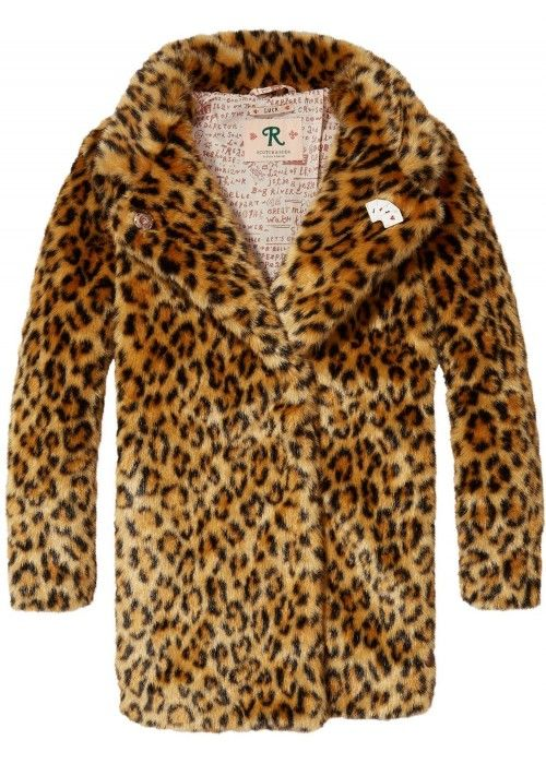 Scotch R'belle Faux Fur Leopard Coat
