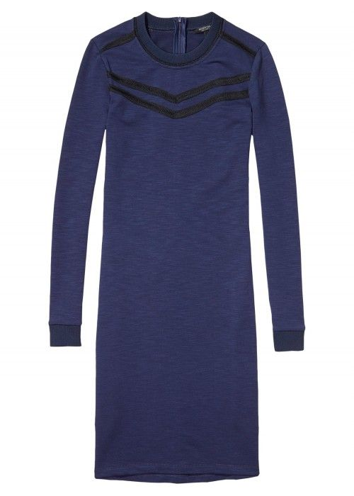 Maison Scotch Fitted Sweat Dress