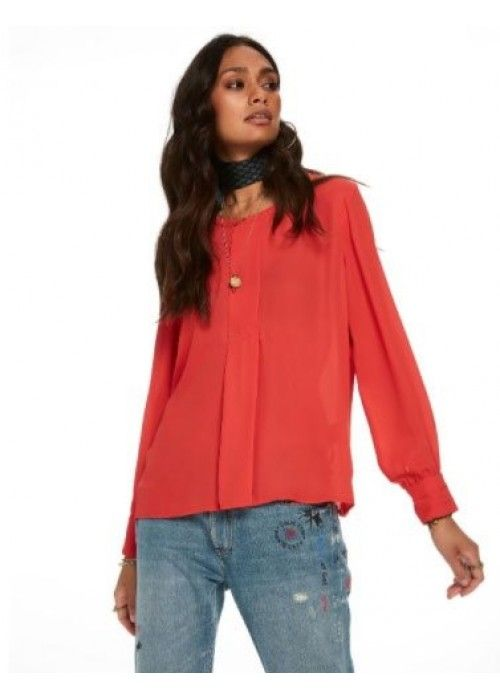 Maison Scotch Silky Feel Top With Pleat