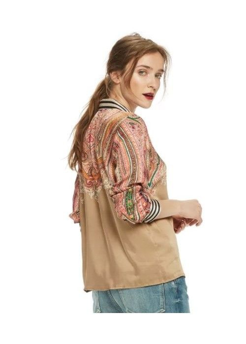 Maison Scotch Silky Feel Placement Blouse