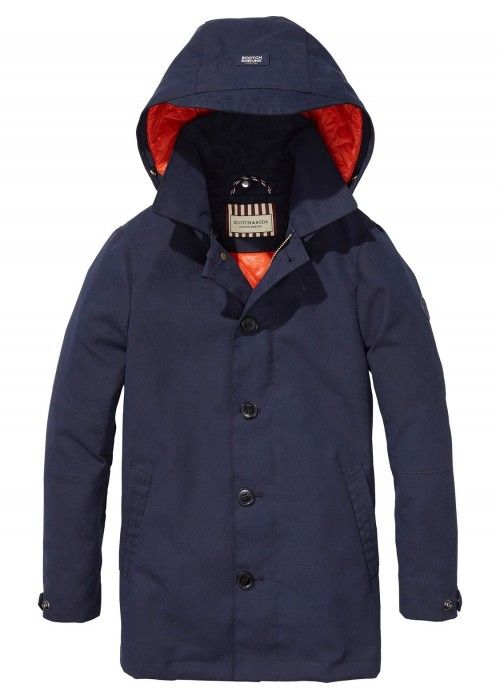 Scotch Shrunk Mid-Length Jacket With Lightwe