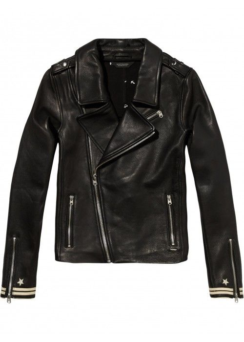 Maison Scotch Biker with small detail at the