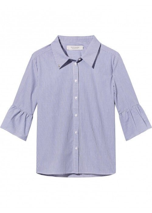 Maison Scotch Shirt with ruffles and special