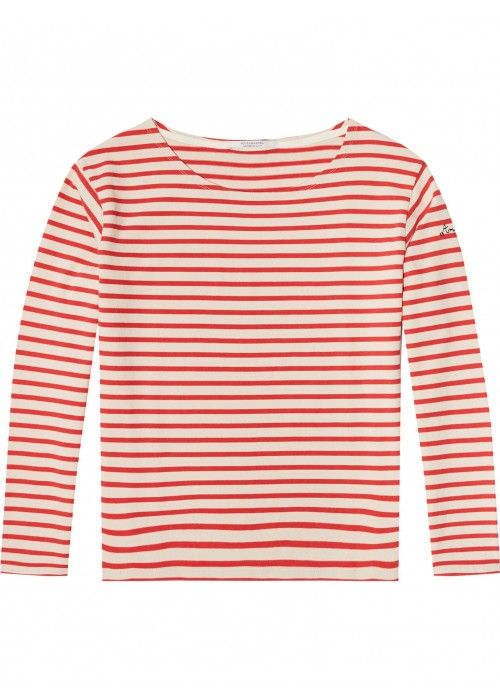 Maison Scotch Classic breton tee in loose fi
