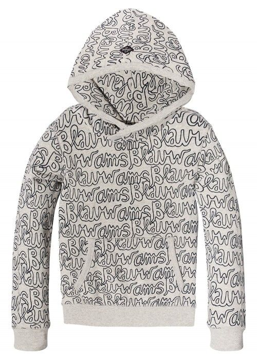 Scotch Shrunk Allover Printed Hooded Sweat