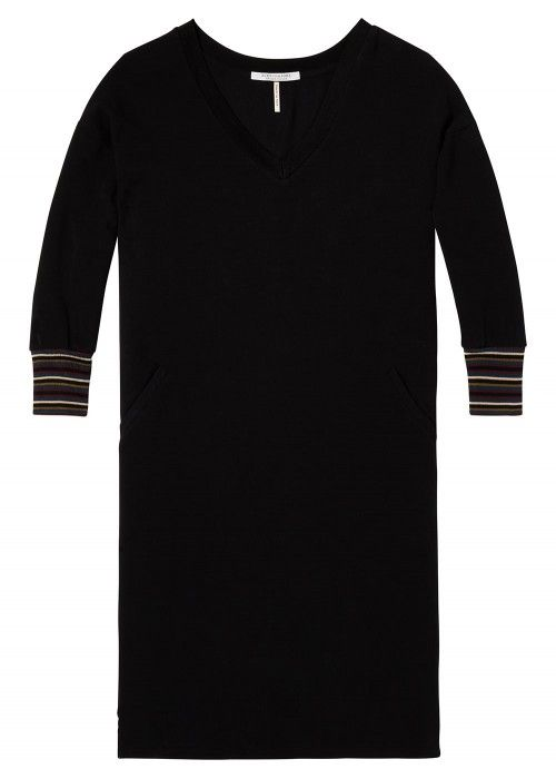 Maison Scotch V-neck long sleeve sweat dress