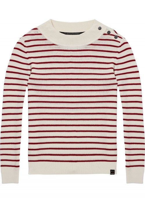 Maison Scotch Striped crewneck pullover and