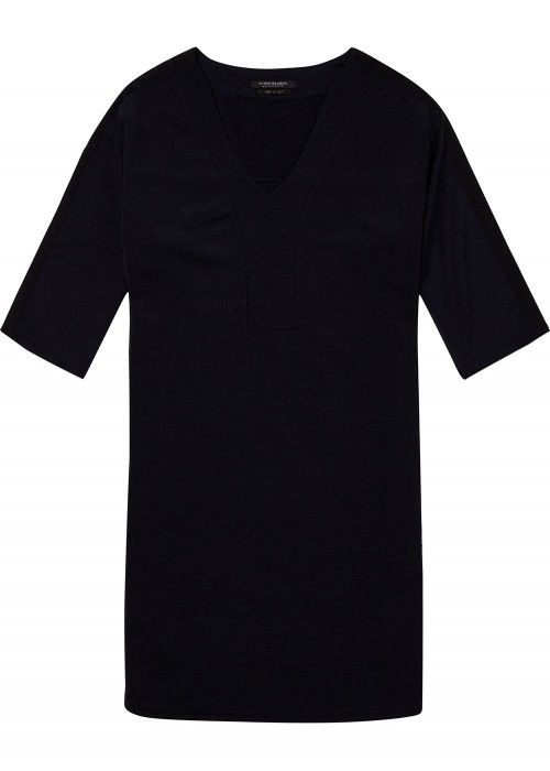 Maison Scotch V-neck sweat dress with contra