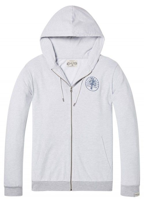 Scotch & Soda Lightweight zip-through hoodie