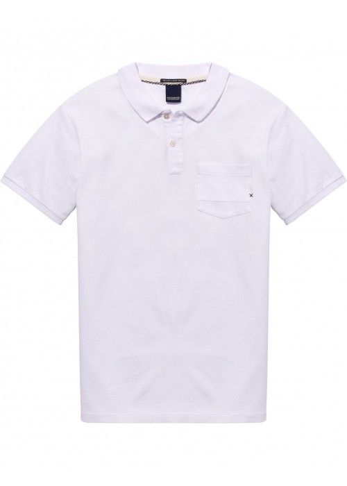 Scotch & Soda Ams Blauw garment dyed polo