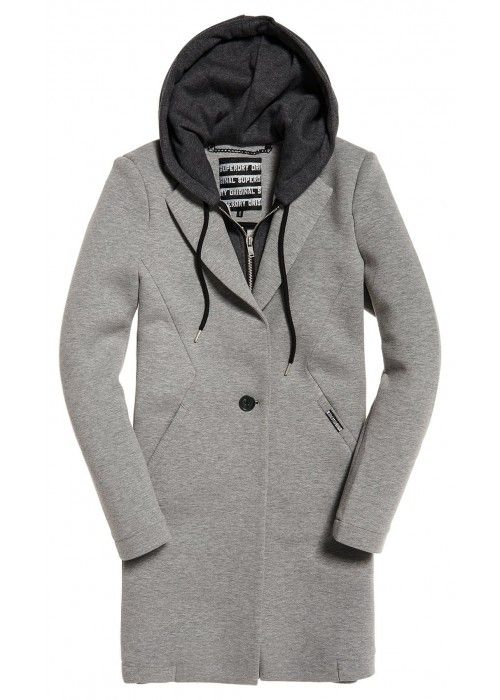 Superdry Hooded Scuba Longline Blazer