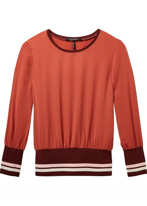 Maison Scotch Long sleeve silky feel top