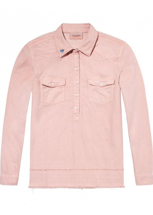 Maison Scotch Denim blouse with over-dye