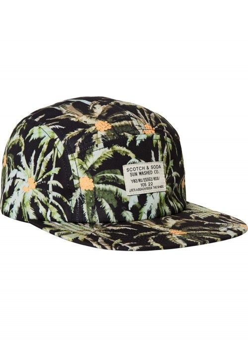 Scotch & Soda Sporty nylon cap with woven
